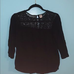 OLD NAVY Black Lace Top